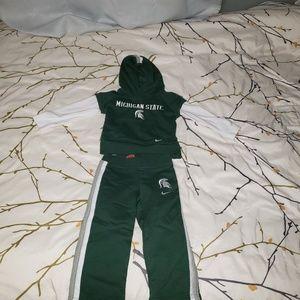 MSU Spartan sweatsuit, boys or girls